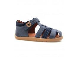Sandale baieti bleumarin Global din piele naturala