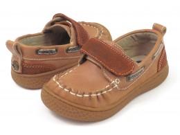 Pantofi baieti North din piele naturala maron
