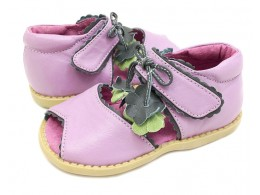 Sandale fete mov lavanda Merry Bell din piele naturala