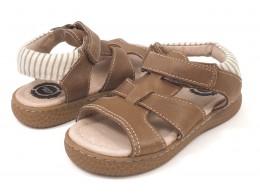 Sandale baieti maron Sailor din piele naturala