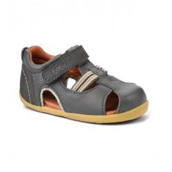 Sandale baieti gri Intrepid din piele naturala
