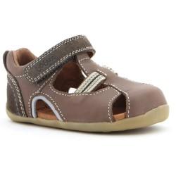 Sandale baieti maron Intrepid din piele naturala