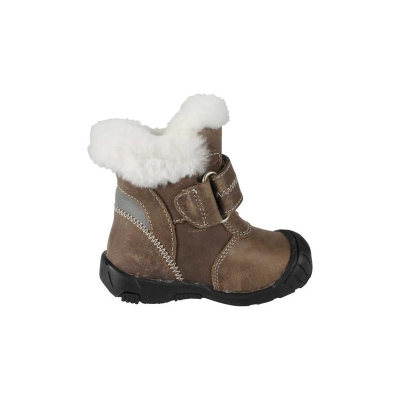 site de renume vânzări la cald potrivire grozavă Cizme copii imblanite Tobias din piele naturala maron si blana ...