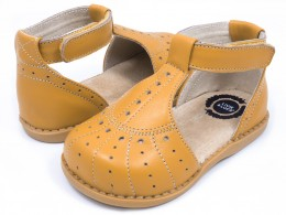 Pantofi fete galben Palma din piele naturala
