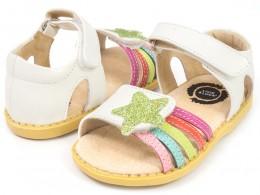 Sandale fete alb Nova din piele naturala