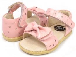 Sandale fete Minnie din piele naturala roz pal