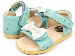 Sandale fete albastru Minnie din piele naturala