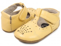 Pantofi bebelusi galben Cora din piele naturala