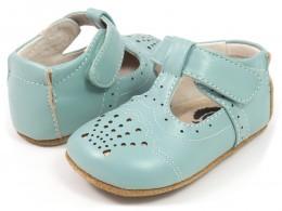 Pantofi bebelusi albastru Cora din piele naturala