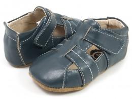 Pantofi bebelusi Captain din piele naturala bleumarin