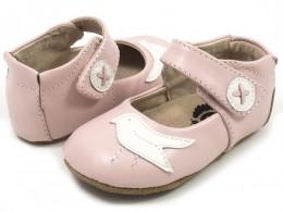 Pantofi bebelusi Pio Pio din piele naturala roz