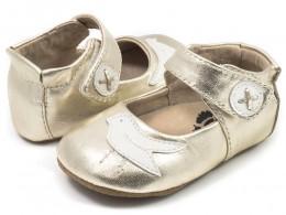 Pantofi bebelusi argintiu Pio Pio din piele naturala