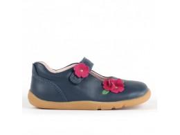 Pantofi fete bleumarin Wish din piele naturala