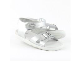 Sandale fete argintiu Pop din piele naturala