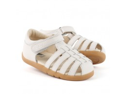 Sandale fete alb Sorbet din piele naturala