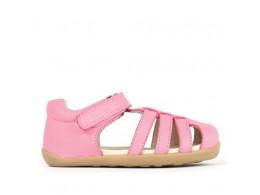 Sandale fete roz Jump din piele naturala