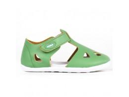 Sandale copii verde Zap din piele naturala