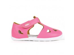 Sandal fete Zap din piele naturala roz fucsia
