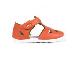 Sandale copii portocaliu Zap din piele naturala