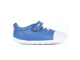 Pantofi baieti Scribble din piele naturala albastru electric