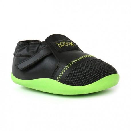 Pantofi copii Origin din piele naturala verde lime