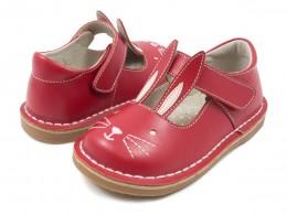 Pantofi fete Molly din piele naturala rosie