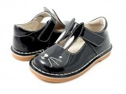 Pantofi fete negru Molly din piele naturala
