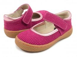 Pantofi fete Gemma din piele naturala roz magenta