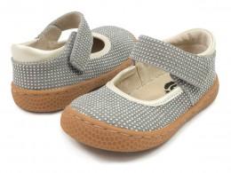 Pantofi fete Gemma din piele naturala gri