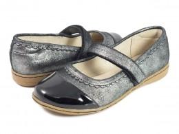 Pantofi fete negru Harper din piele naturala