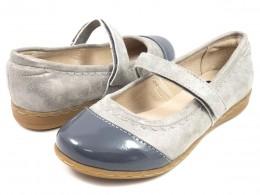 Pantofi fete gri argintiu Harper din piele naturala