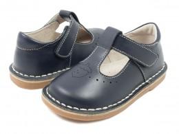 Pantofi fete bleumarin Oak din piele naturala