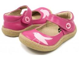 Pantofi fete Pio Pio din piele naturala roz magenta