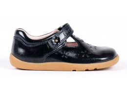 Pantofi fete Rhyme din piele naturala bleumarin