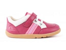 Pantofi fete sport Speed Racer din piele naturala roz fucsia