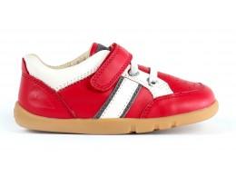 Pantofi copii Speed Racer din piele naturala rosu pompei