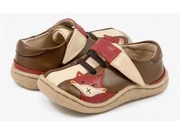 Pantofi copii Vulpe din piele naturala maron