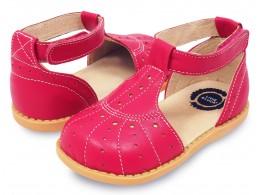 Pantofi fete Palma din piele naturala roz aprins