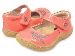 Pantofi fete Pio Pio din piele naturala guava