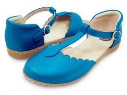 Pantofi fete albastru Fresca din piele naturala