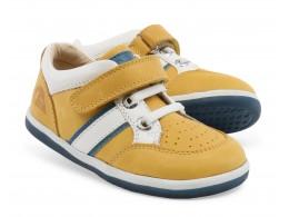 Pantofi sport copii Racer din piele naturala galbena
