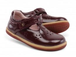 Pantofi fete mov Plum Gloss din piele naturala lacuita