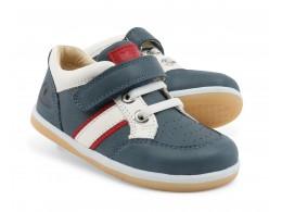 Pantofi baieti sport albastru Racer din piele naturala