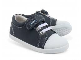Pantofi baieti sport Trouble din piele naturala bleumarin