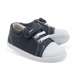 Pantofi copii sport Trouble din piele naturala bleumarin