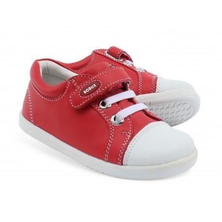 Pantofi sport copii Trouble din piele naturala rosie