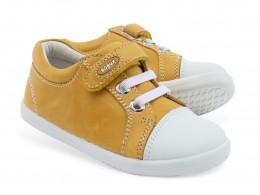 Pantofi copii sport Trouble din piele naturala galbena