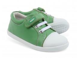 Pantofi copii sport Trouble din piele naturala verde