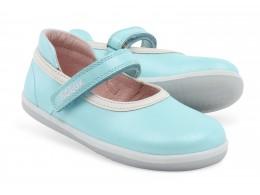 Pantofi fete Twirl din piele naturala bleu aqua