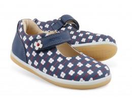 Pantofi fete Delight din piele naturala bleumarin